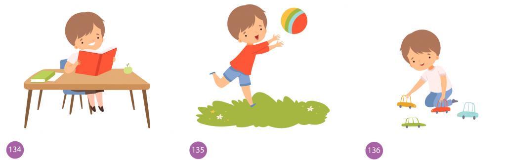 Sonidos para niños y niñas y sus rutinas diarias